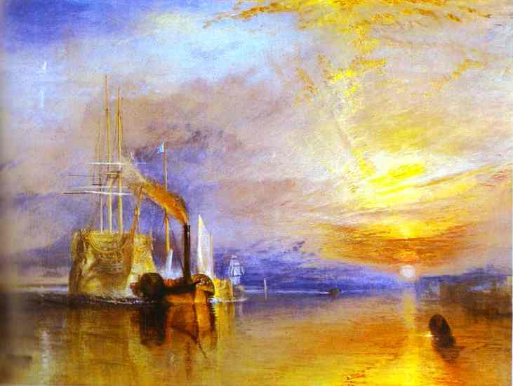 The Fighting Temeraire Tugged to Her Last Berth to Be Broken up by William Turner (1775-1851, United Kingdom) | Museum Quality Reproductions | WahooArt.com