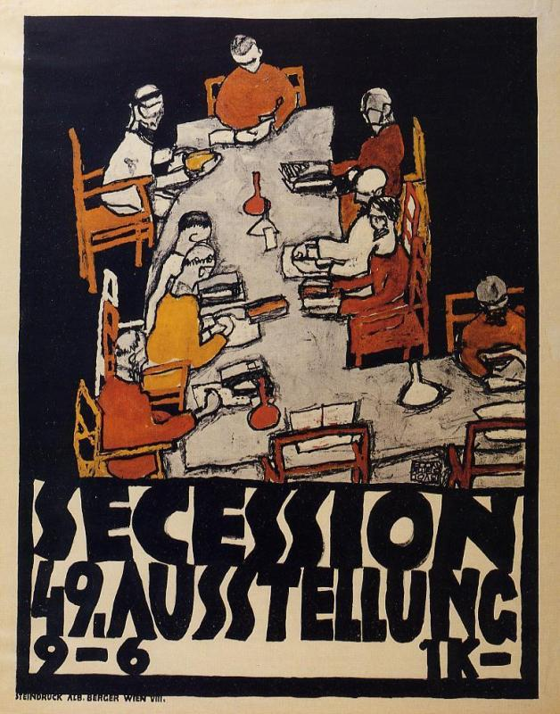 'Forty-Ninth Secession Exhibition Poster', Oil by Egon Schiele (1890-1918, Australia)