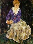 Egon Schiele - Portrait of the Artist's Wife, Seated