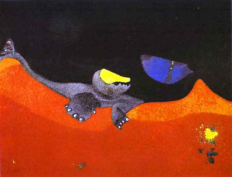 'Sign for a School of Monsters', Oil by Max Ernst (1891-1976, Germany)