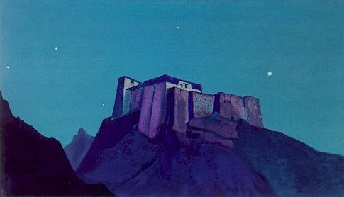 'Stronghold of Tibet 2', Oil by Nicholas Roerich (1874-1947, Russia)