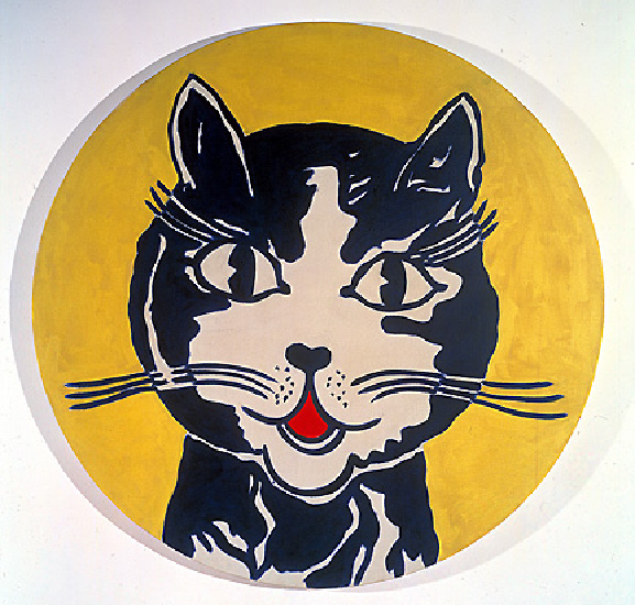 Laughing cat (1961) by Roy Lichtenstein (1923-1997, United States) | Oil Painting | WahooArt.com