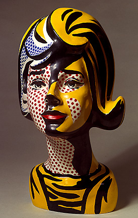 'Head red shadow (1964)', Oil by Roy Lichtenstein (1923-1997, United States)