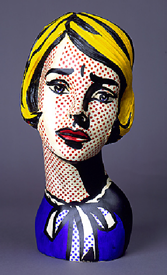 'Head (1964)', Oil by Roy Lichtenstein (1923-1997, United States)