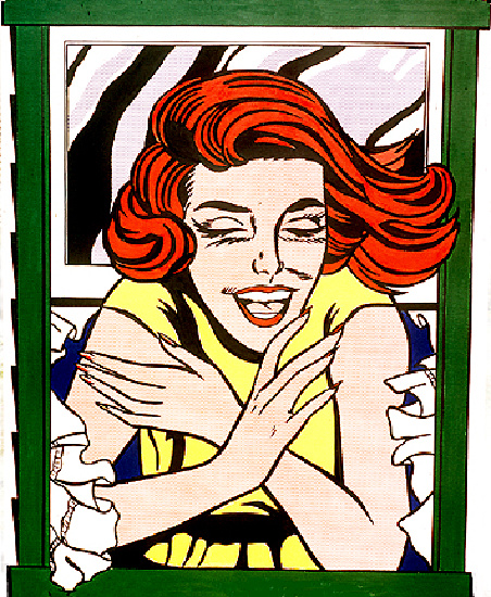 'Mural (1964)', Oil by Roy Lichtenstein (1923-1997, United States)