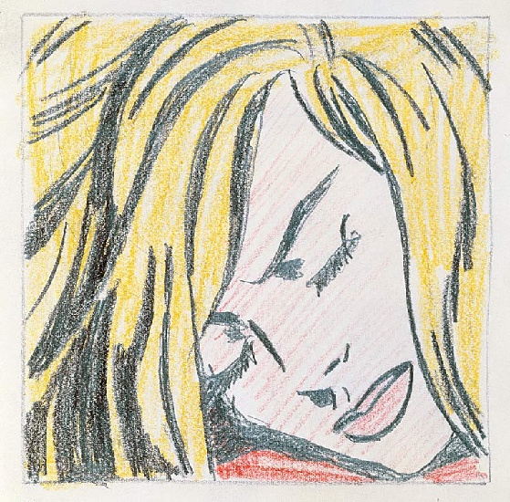 'Sleeping Girl (1964)', Oil by Roy Lichtenstein (1923-1997, United States)