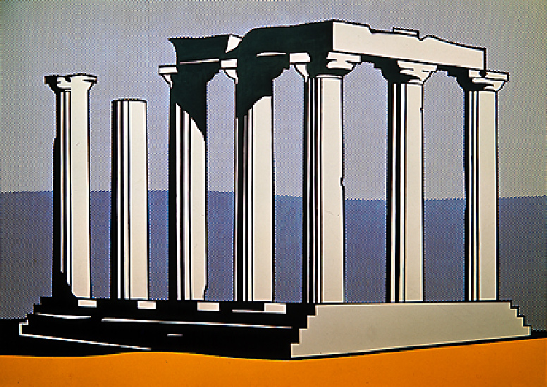 Temple of apollo (1964) by Roy Lichtenstein (1923-1997, United States) | Museum Quality Reproductions | WahooArt.com