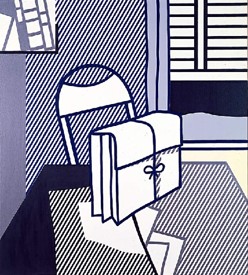 'Still Life with Dossier (1976)', Oil by Roy Lichtenstein (1923-1997, United States)