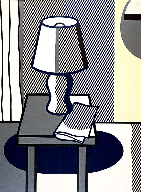 'Still Life with Table Lamp (1976)', Oil by Roy Lichtenstein (1923-1997, United States)