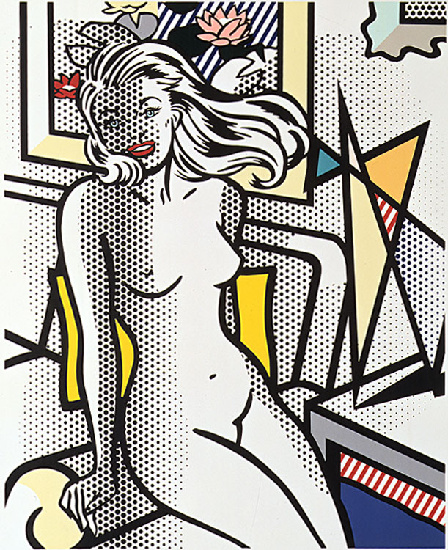 'Nude with Yellow Pillow (1994)', Oil by Roy Lichtenstein (1923-1997, United States)