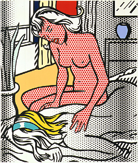 'Two Nudes (1994)', Oil by Roy Lichtenstein (1923-1997, United States)
