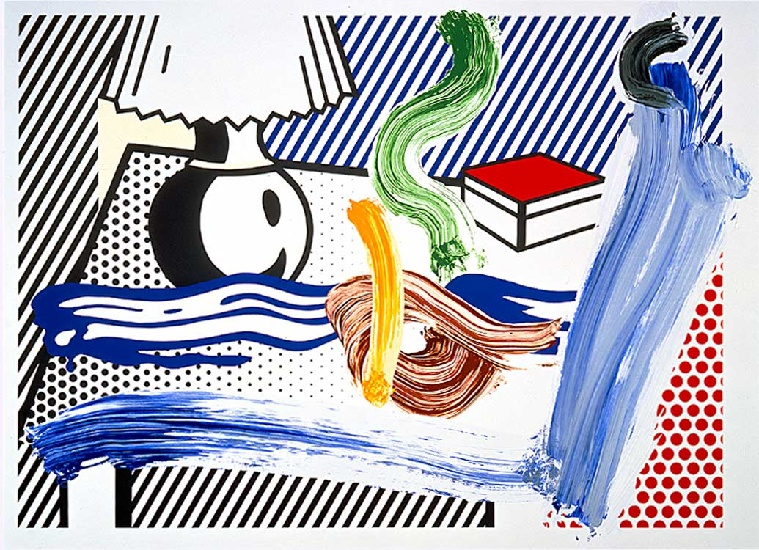'Brushstroke Still Life with Lamp (1997)', Oil by Roy Lichtenstein (1923-1997, United States)