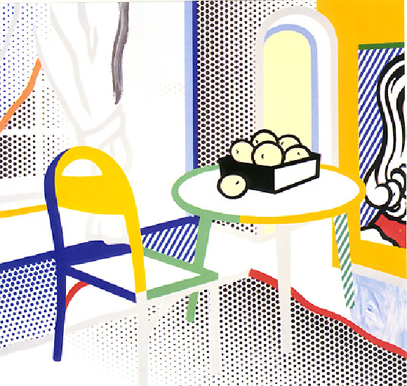'Intyelap97 (1997)', Oil by Roy Lichtenstein (1923-1997, United States)