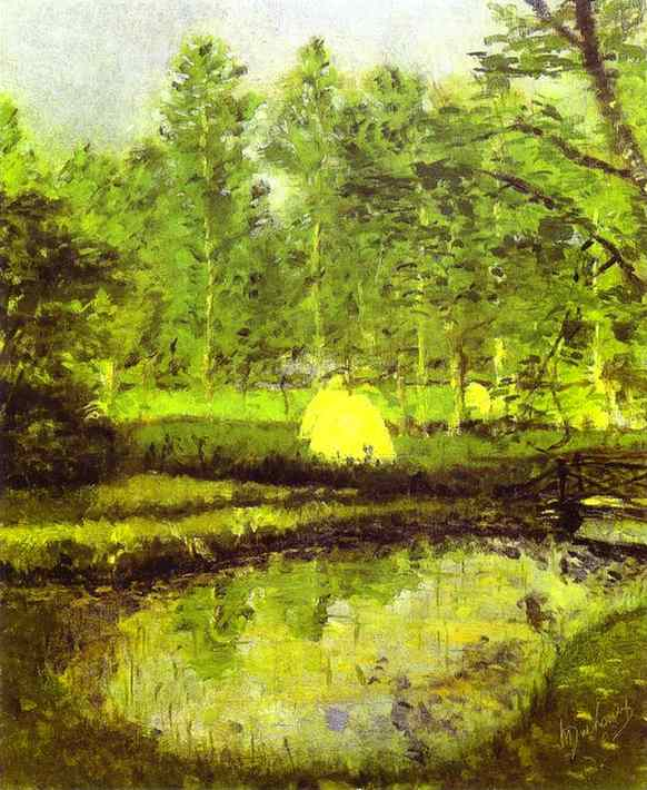 'Landscape at Blainville', Oil by Marcel Duchamp (1887-1968, France)