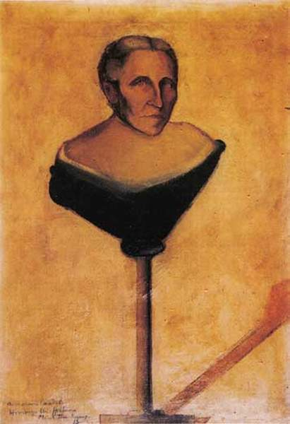 'Portrait of Gustave Candel's Mother', Oil by Marcel Duchamp (1887-1968, France)