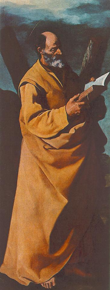 'Apostle St Andrew', Oil by Francisco Zurbaran (1598-1664, Spain)