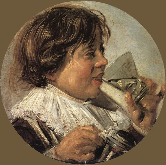 Drinking Boy by Frans Hals (1580-1666, Belgium) | Art Reproduction | WahooArt.com