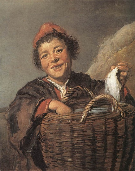 'Fisher Boy', Oil by Frans Hals (1580-1666, Belgium)