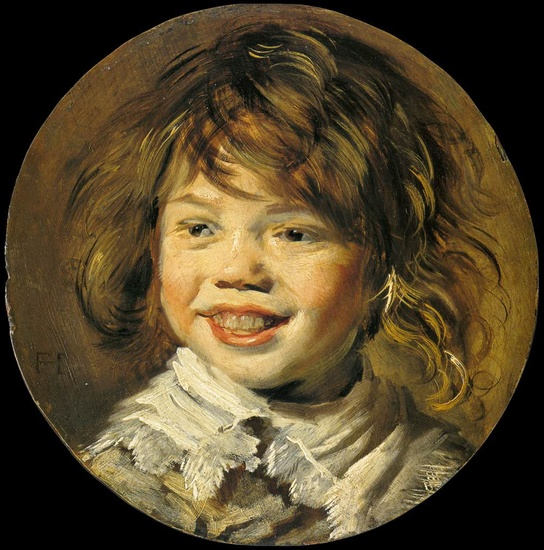 'Laughing Child', Oil by Frans Hals (1580-1666, Belgium)