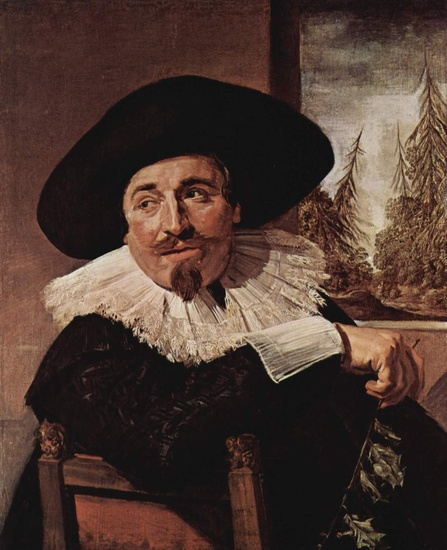 'Portrait of Isaak Abrahamsz. Massa', Oil by Frans Hals (1580-1666, Belgium)