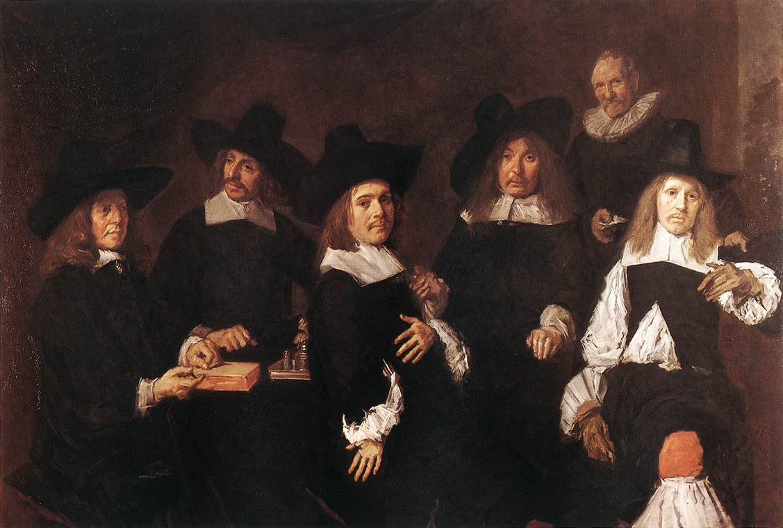 'Regents of the Old Men's Almshouse', Oil by Frans Hals (1580-1666, Belgium)