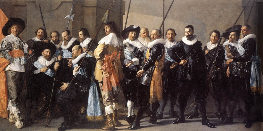 'The Meagre Company', Oil by Frans Hals (1580-1666, Belgium)