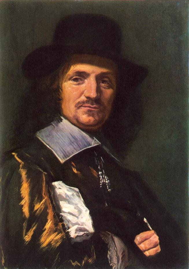 'The Painter Jan Asselyn', Oil by Frans Hals (1580-1666, Belgium)