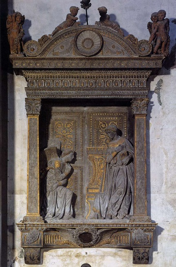 'Annunciation', Sculpture by Donatello (1386-1466, Italy)