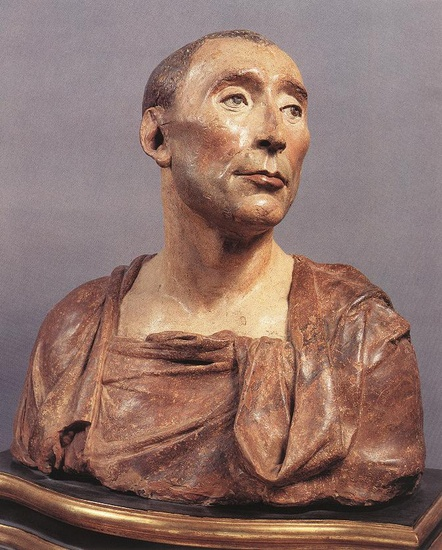 'Bust of Niccolo da Uzzano', Oil by Donatello (1386-1466, Italy)