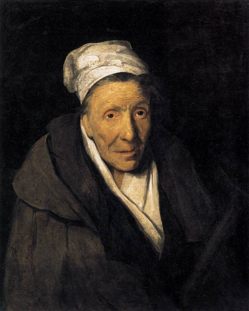 'A Madwoman and Compulsive Gambler', Oil by Théodore Géricault (1791-1824, France)