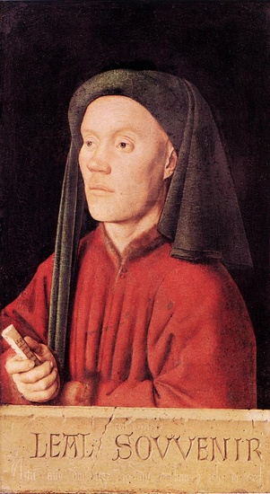 'Portrait of a Young Man (Tymotheos)', Oil by Jan Van Eyck (1395-1441, Netherlands)