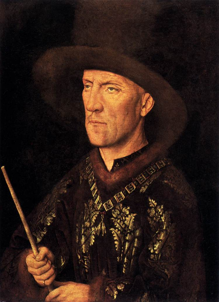 'Portrait of Baudouin de Lannoy', Oil by Jan Van Eyck (1395-1441, Netherlands)