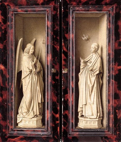 'Small Triptych (outer panels)', Sculpture by Jan Van Eyck (1395-1441, Netherlands)