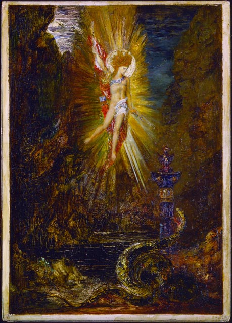 'Apollo Victorious over Python', Oil by Gustave Moreau (1826-1898, France)