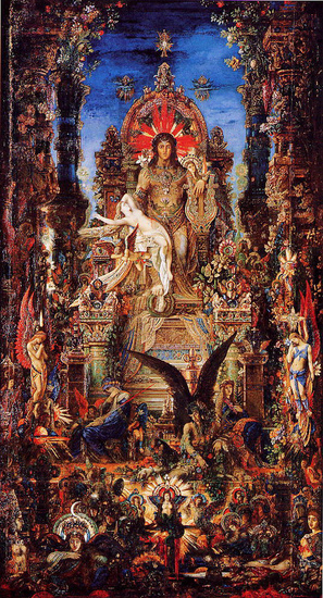 'Jupiter and Semele', Oil by Gustave Moreau (1826-1898, France)