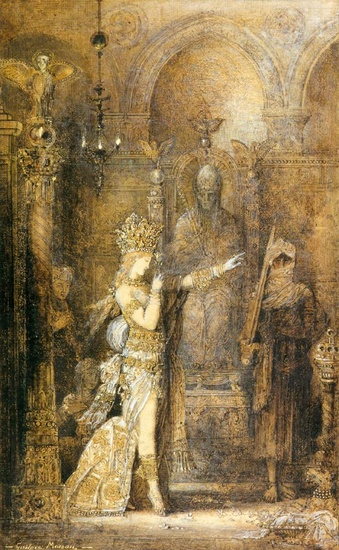 'Salome Dancing', Oil by Gustave Moreau (1826-1898, France)