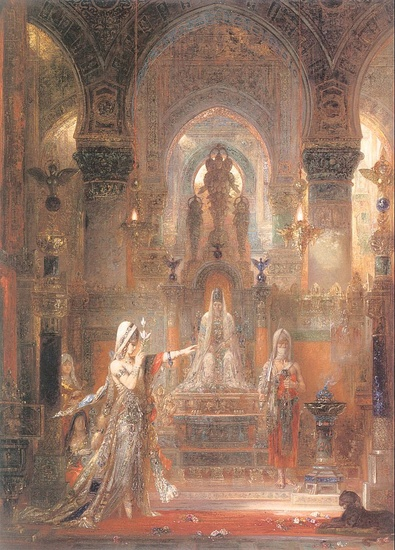 'Salomé Dancing before Herod', Oil by Gustave Moreau (1826-1898, France)