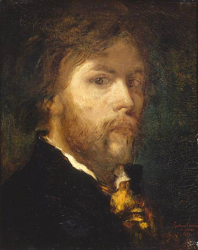 'Self-Portrait', Oil by Gustave Moreau (1826-1898, France)