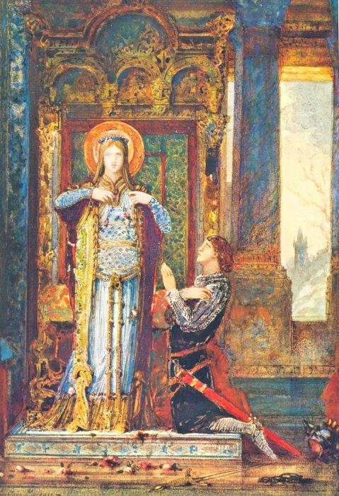 'St Elizabeth of Hungary or The Miracle of the Roses', Oil by Gustave Moreau (1826-1898, France)
