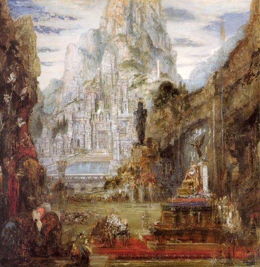 'The Triumph of Alexander the Great', Oil by Gustave Moreau (1826-1898, France)