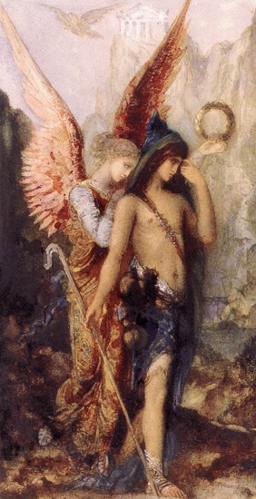 'The Voices', Oil by Gustave Moreau (1826-1898, France)
