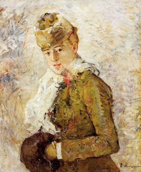 'Winter aka Woman with a Muff', Oil by Berthe Morisot (1841-1895, France)