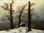 Caspar David Friedrich - Dolmen in the Snow
