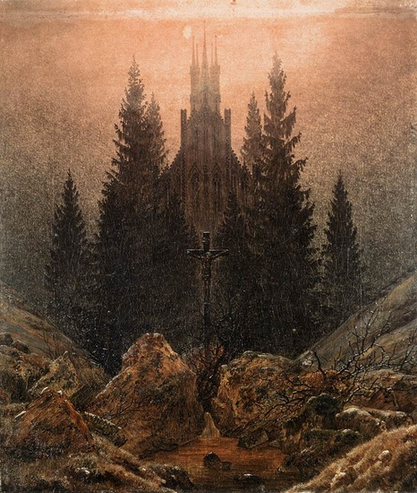 'The Cross in the Mountains', Oil by Caspar David Friedrich (1774-1840, Germany)