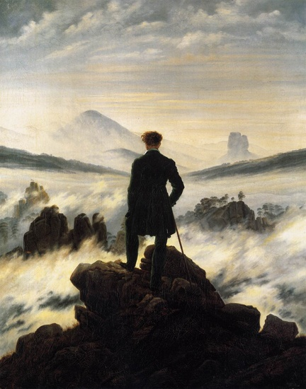The Wanderer above the Mists by Caspar David Friedrich (1774-1840, Germany) | Art Reproduction | WahooArt.com