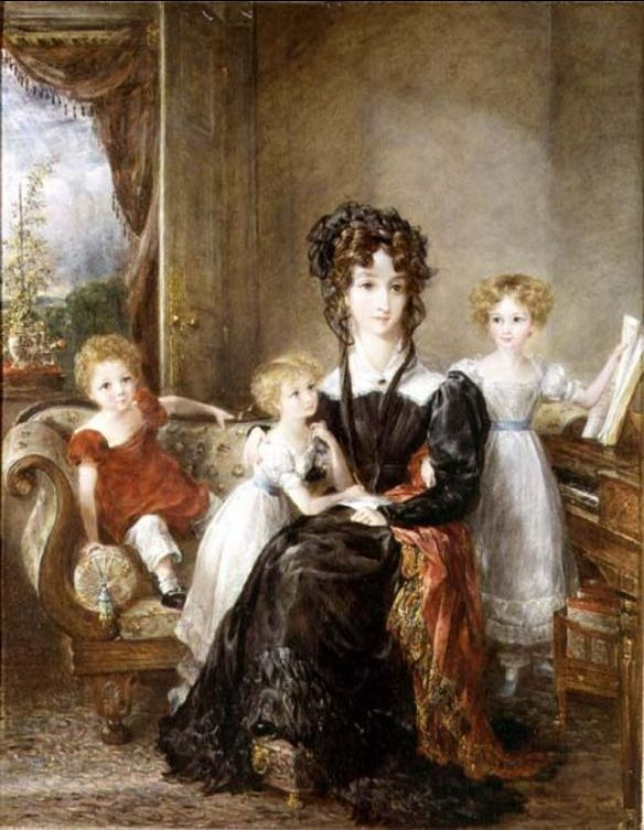 'Portrait of Elizabeth Lea and her Children', Oil by John Constable (1776-1837, United Kingdom)