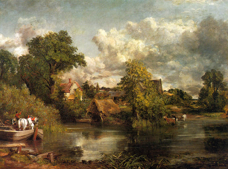 'The White Horse', Oil by John Constable (1776-1837, United Kingdom)