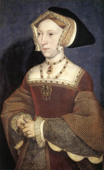 'Jane Seymour, Queen of England', Oil by Hans Holbein The Younger (1497-1543, Germany)