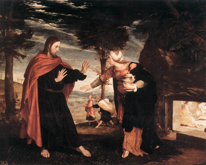 Noli me Tangere by Hans Holbein The Younger (1497-1543, Germany) | Famous Paintings Reproductions | WahooArt.com