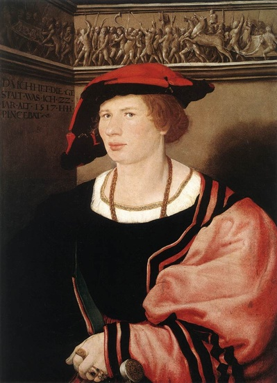 'Portrait of Benedikt von Hertenstein', Oil by Hans Holbein The Younger (1497-1543, Germany)